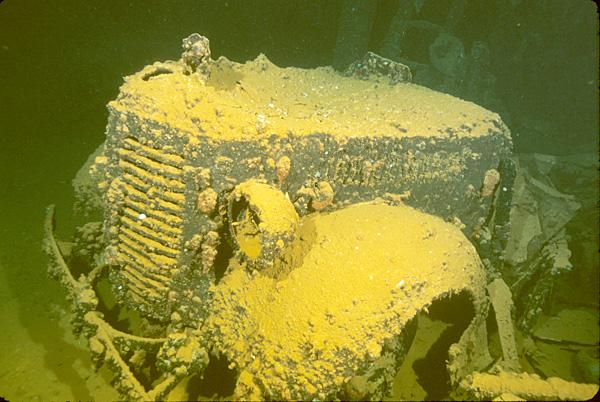 Un cementerio de barcos sumergido