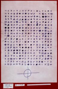 Una de las cartas enviadas por el asesino