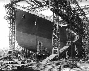 El Titanic en los astilleros Harlan and Wolff